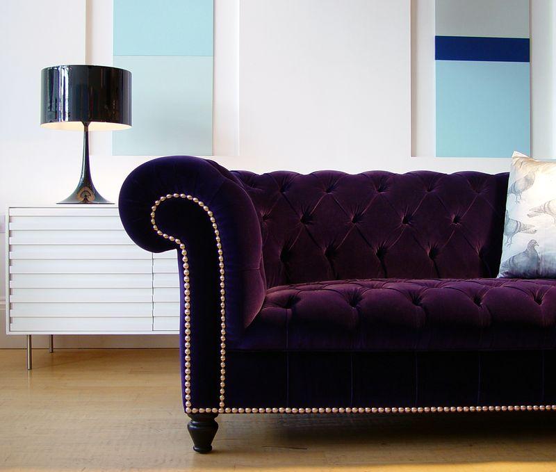 Rume Smithfield Chesterfield Sofa - Purple - high res