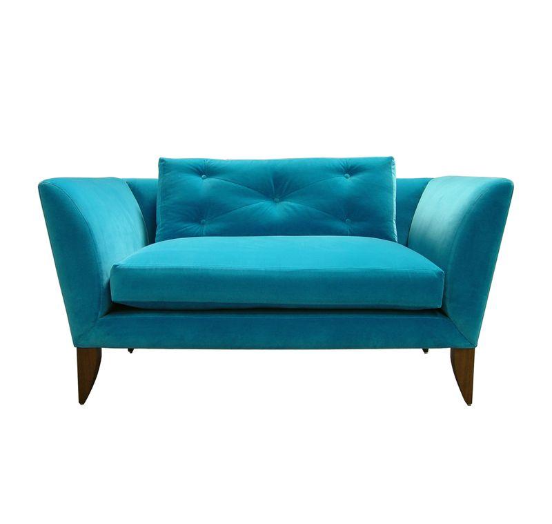 Rume 1.5 Seat Oriel Armchair - Dark Blue