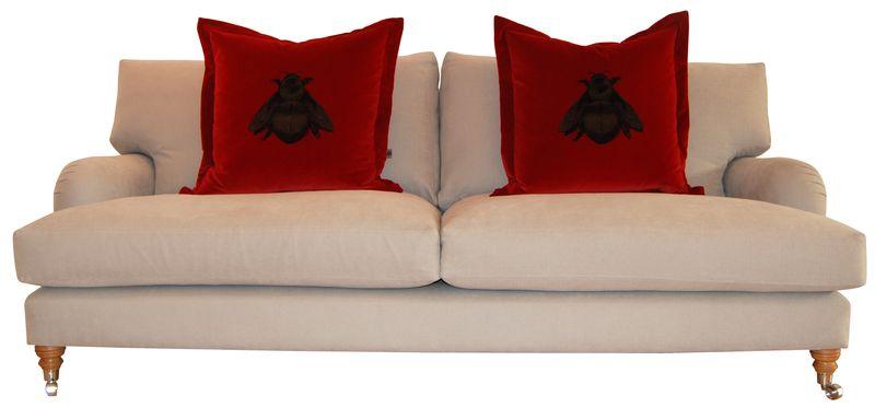 Rume 3 Seat Berners Street Sofa - Cream