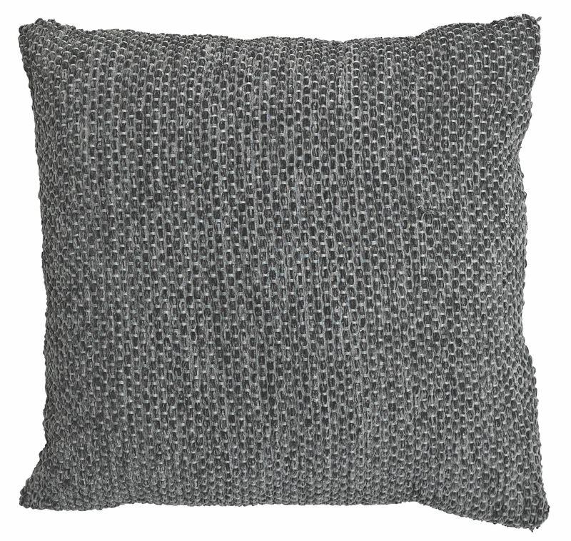 Bq Carpel Chenille Steel & Anthracite Cushion