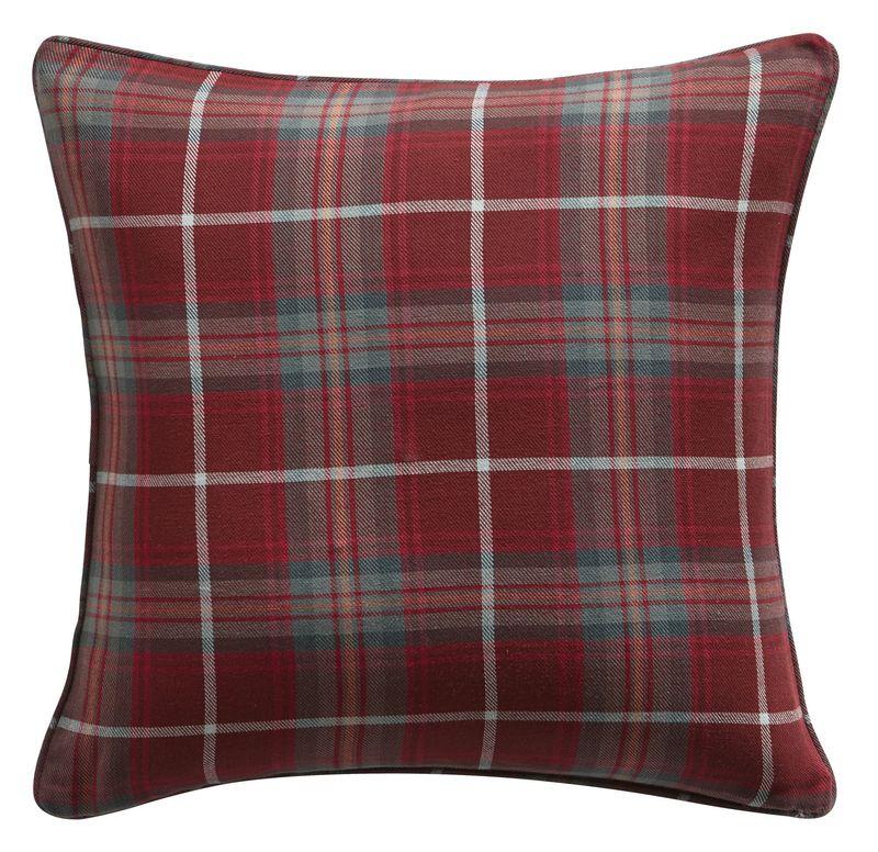 Bq Lamego Red Tartan Cushion  £11.98