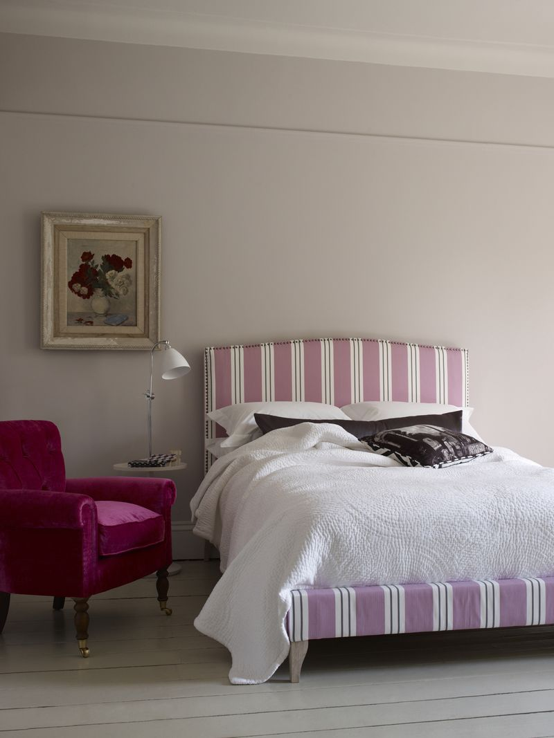 Sofas and Stuff - Brick Lane bed in pink ticking - Portrait