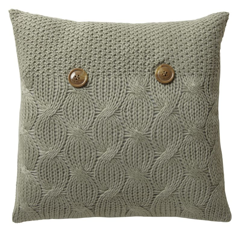 Bq Rosairo Knitted Button Cushion in Taupe £10.98