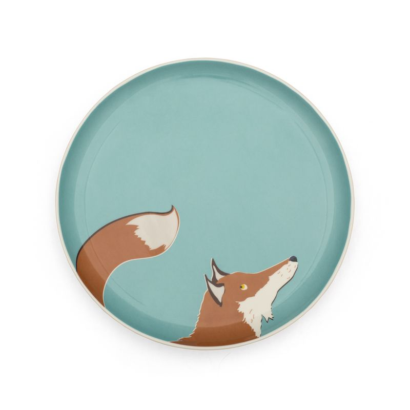 Joules side_plate_fox_aqua from Unique & Unity