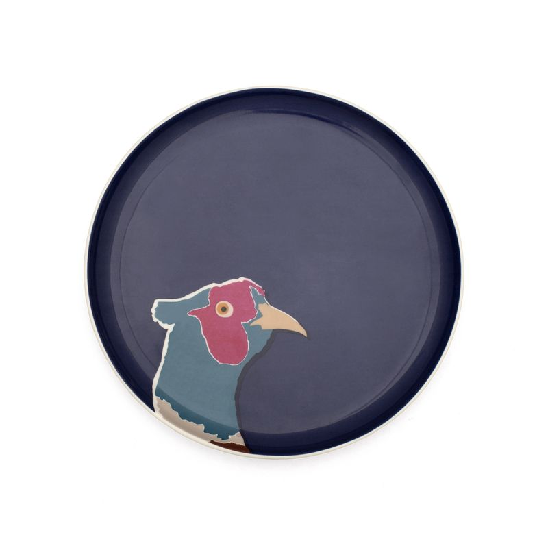 Joules side_plate_pheasant_navy from Unique & Unity