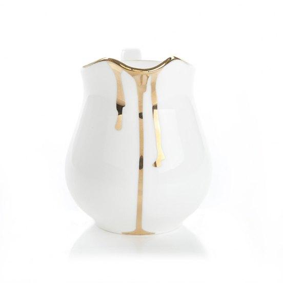 RK Drip tease milk jug in gold £12