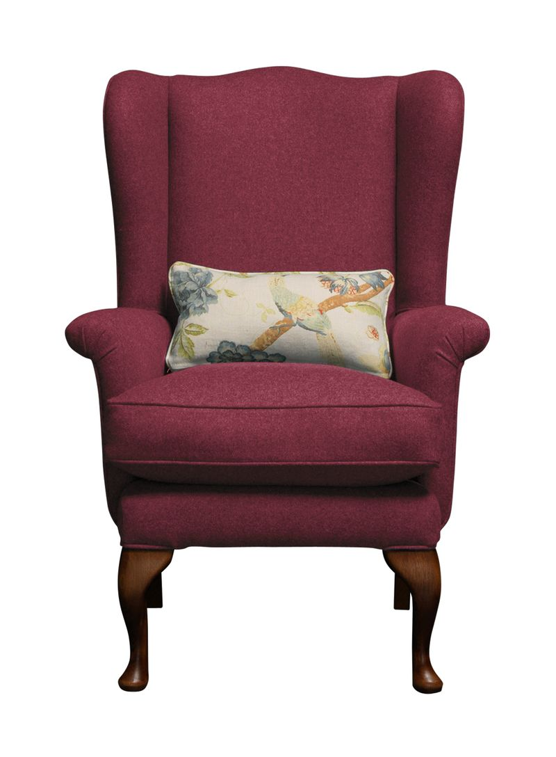 Petite Reader chair in House Brushed Cotton Cherry