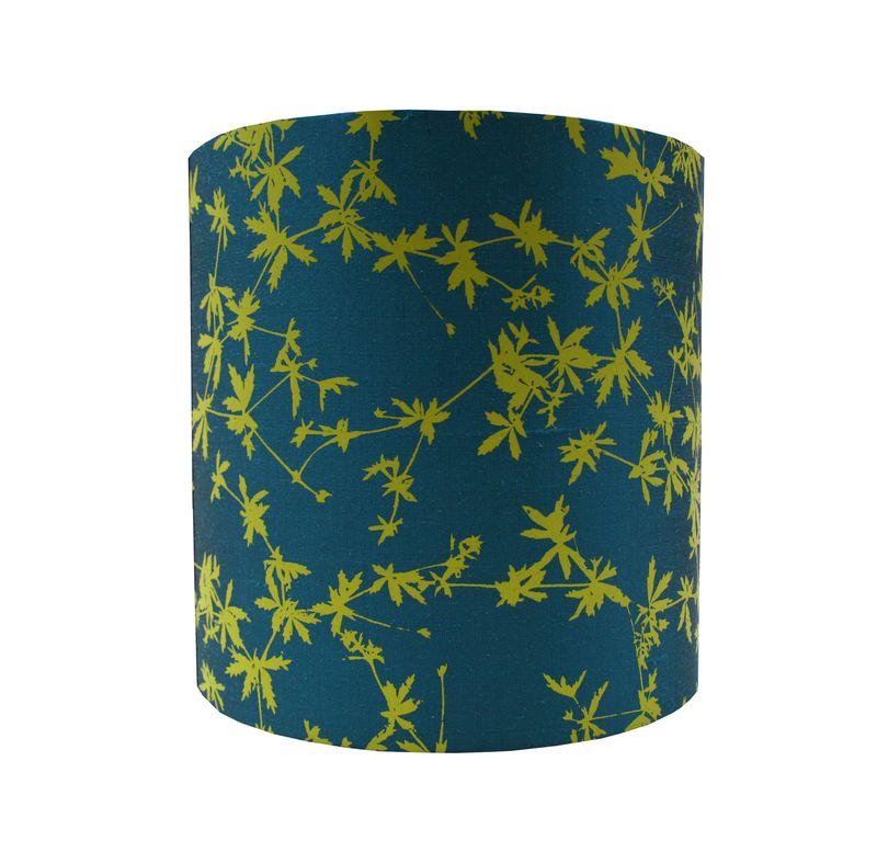 Light Clarissa Hulse, Potentilla silk lampshade, peacock and chartreuse, £65