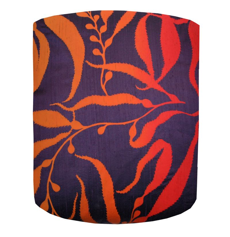Light Clarissa Hulse, Sea Kelp standard lampshade, grape and paprika ombre, £119