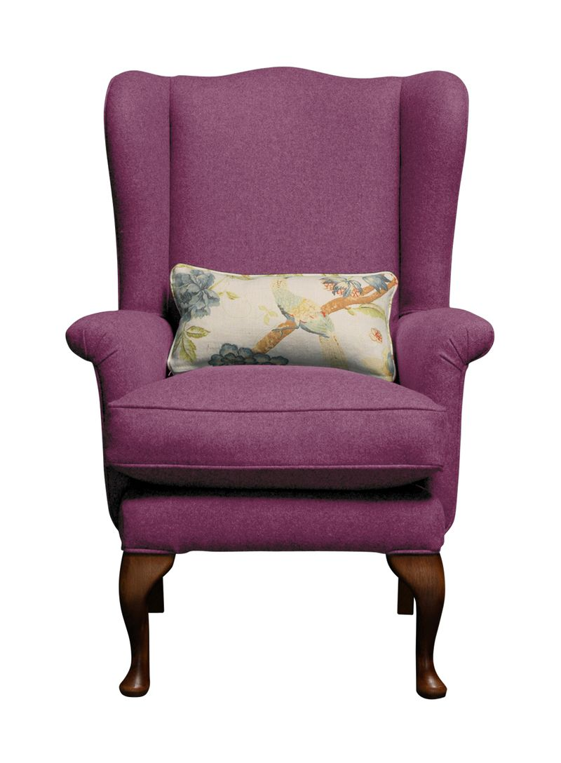 Petite Reader chair in Luscious Plum