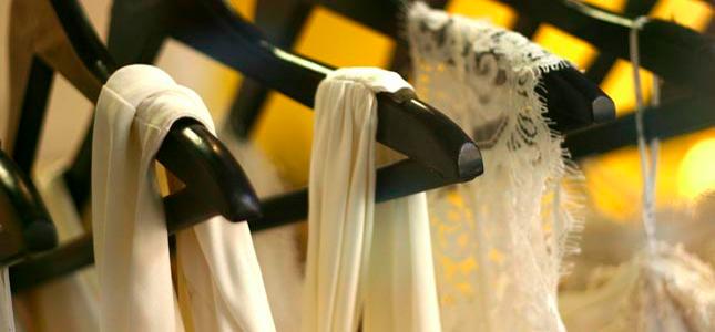 dresses on hangars