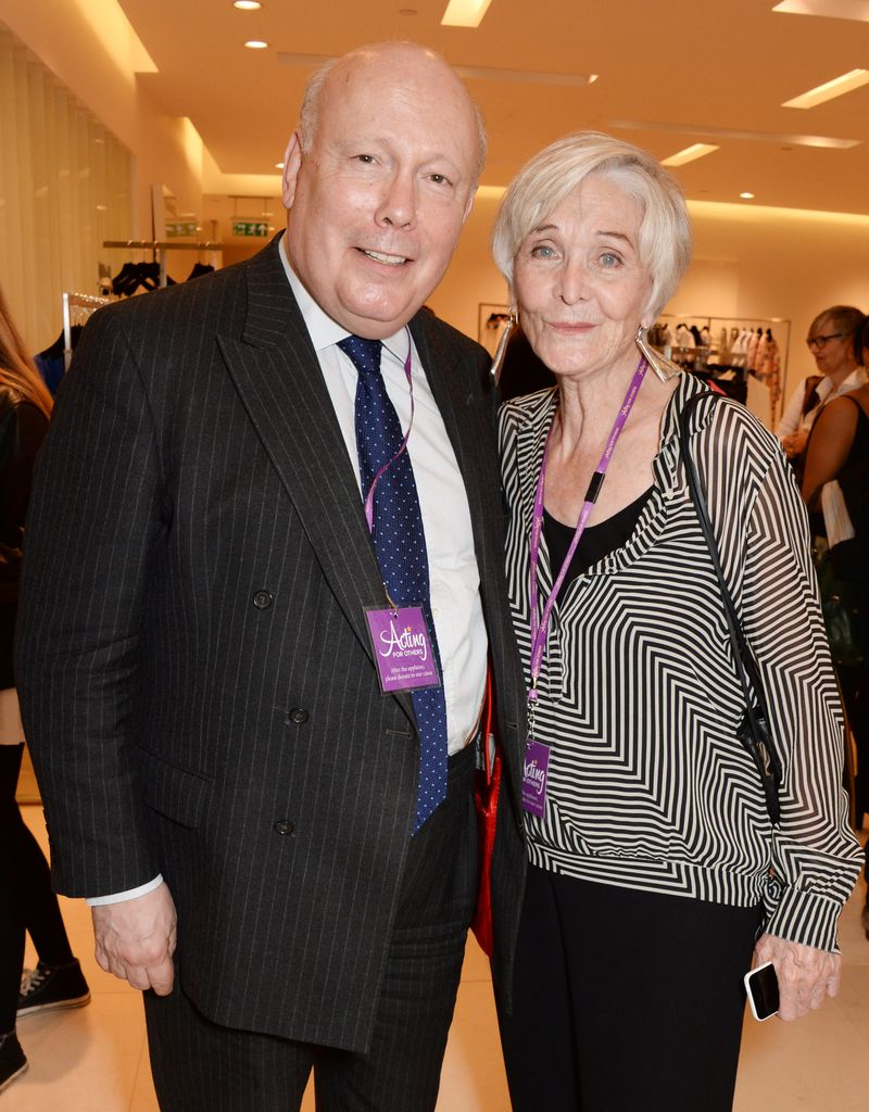 Julian Fellowes and Sheila Hancock