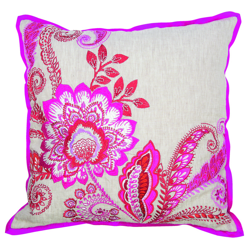 M&S Fluro Embroidered Cushion £35 T471111