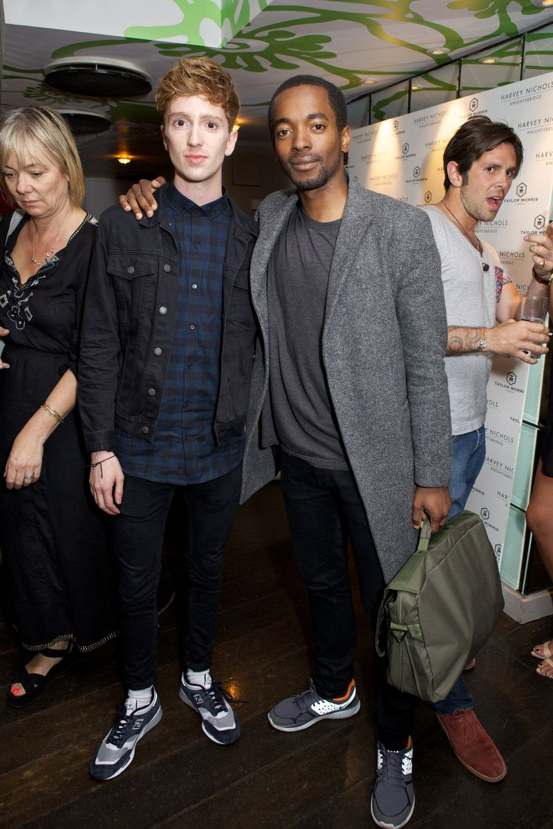 Luke Newberry and friend at Harvey Nichols Taylor Morris party 20 5 14 copy
