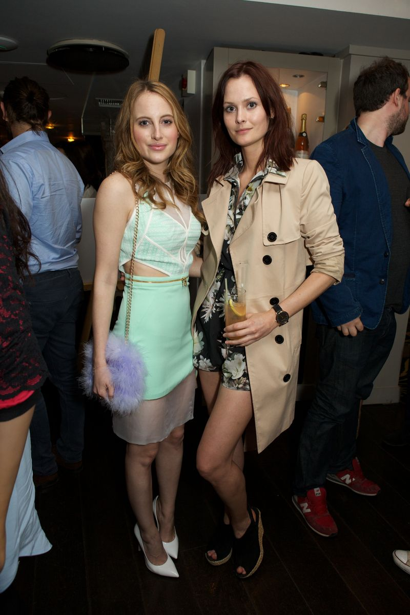 Rosie Fortescue and Charlotte De Carle Harvey NIchols Taylor Morris Party 20 5 14