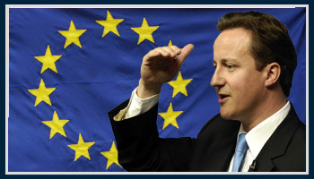 David+Cameron+EU+flag