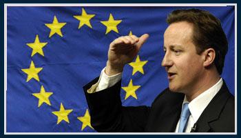 David+Cameron+EU+flag