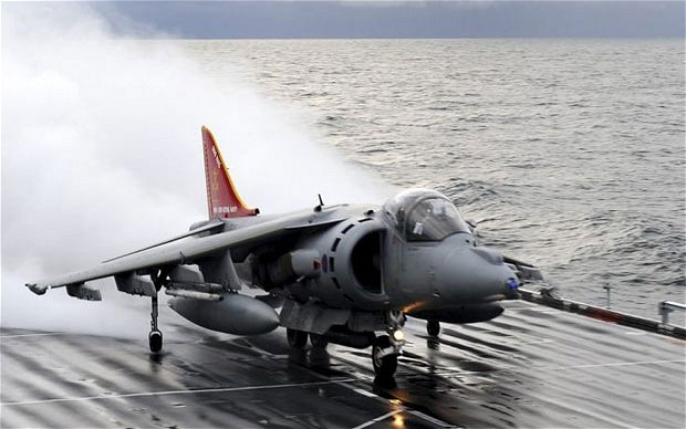 Harrier on Ark royal