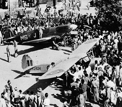 Auster+Spitfire=warwinners in Rangoon