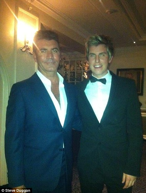 Famous friends: Party planner Steve poses with Leona Lewis (left) and his A-list client, Simon Cowell (right)
