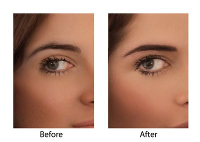 Binky Power Brow - new Before and After
