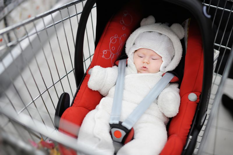 Baby in trolley