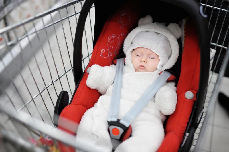 Baby in trolley