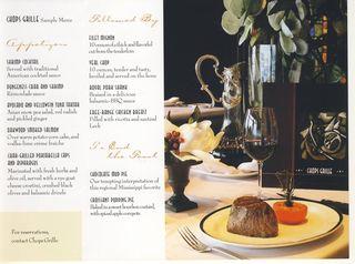 Chops menu