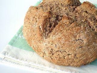 Soda bread closeup
