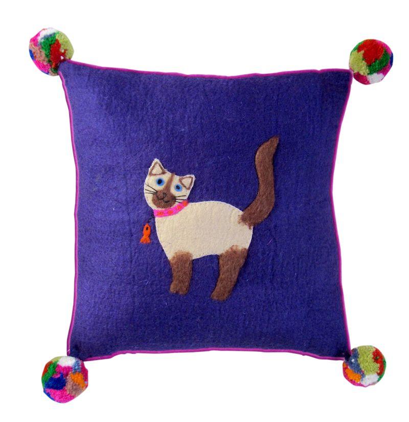 Sh Suki the Cat Cushion from Sew Heart Felt