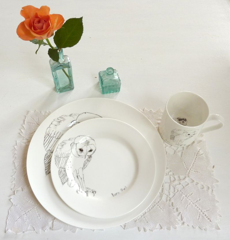In Spaces Tawny Owl Dinner Plate £25