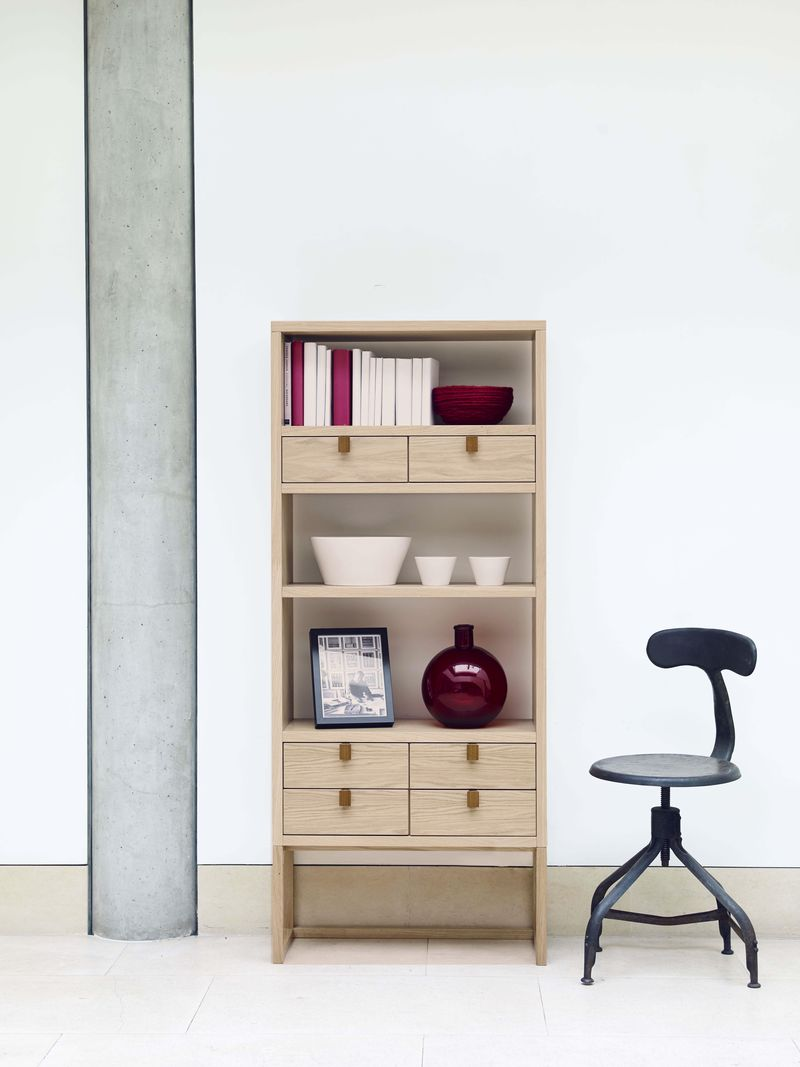 Content by Conran - Barbary shelving unit, red - lifestyle - Portrait