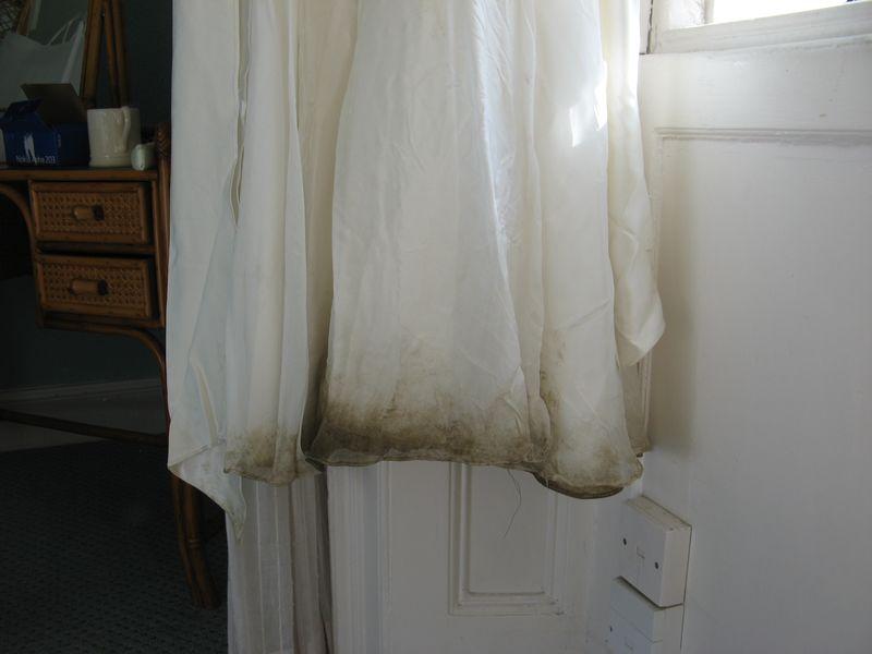 Bink's dirty dress bottom