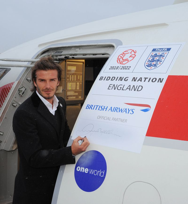 David Beckham (C) Action Images and BA