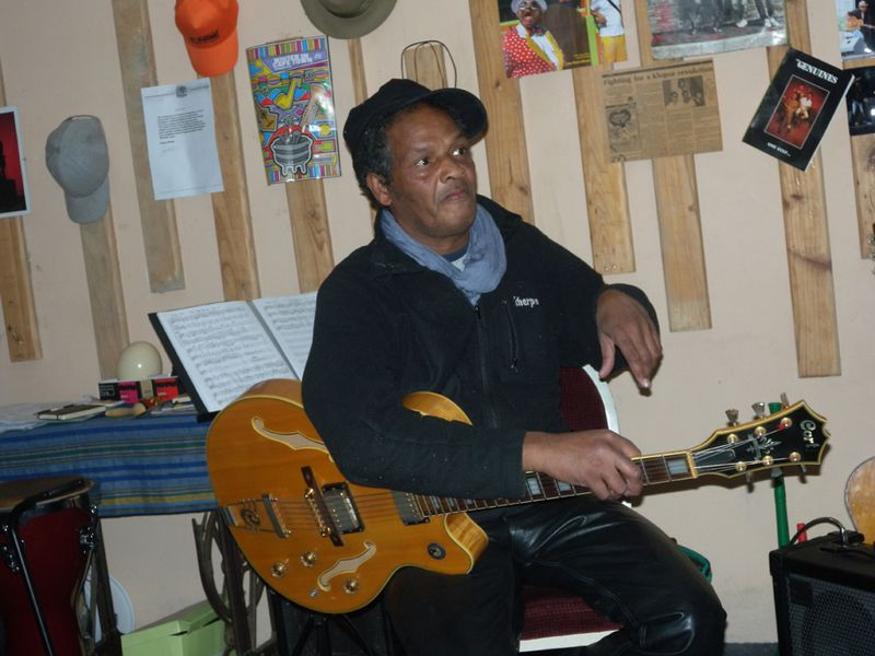Private front room concert by Cape Town jazz legend Mac McKenzie