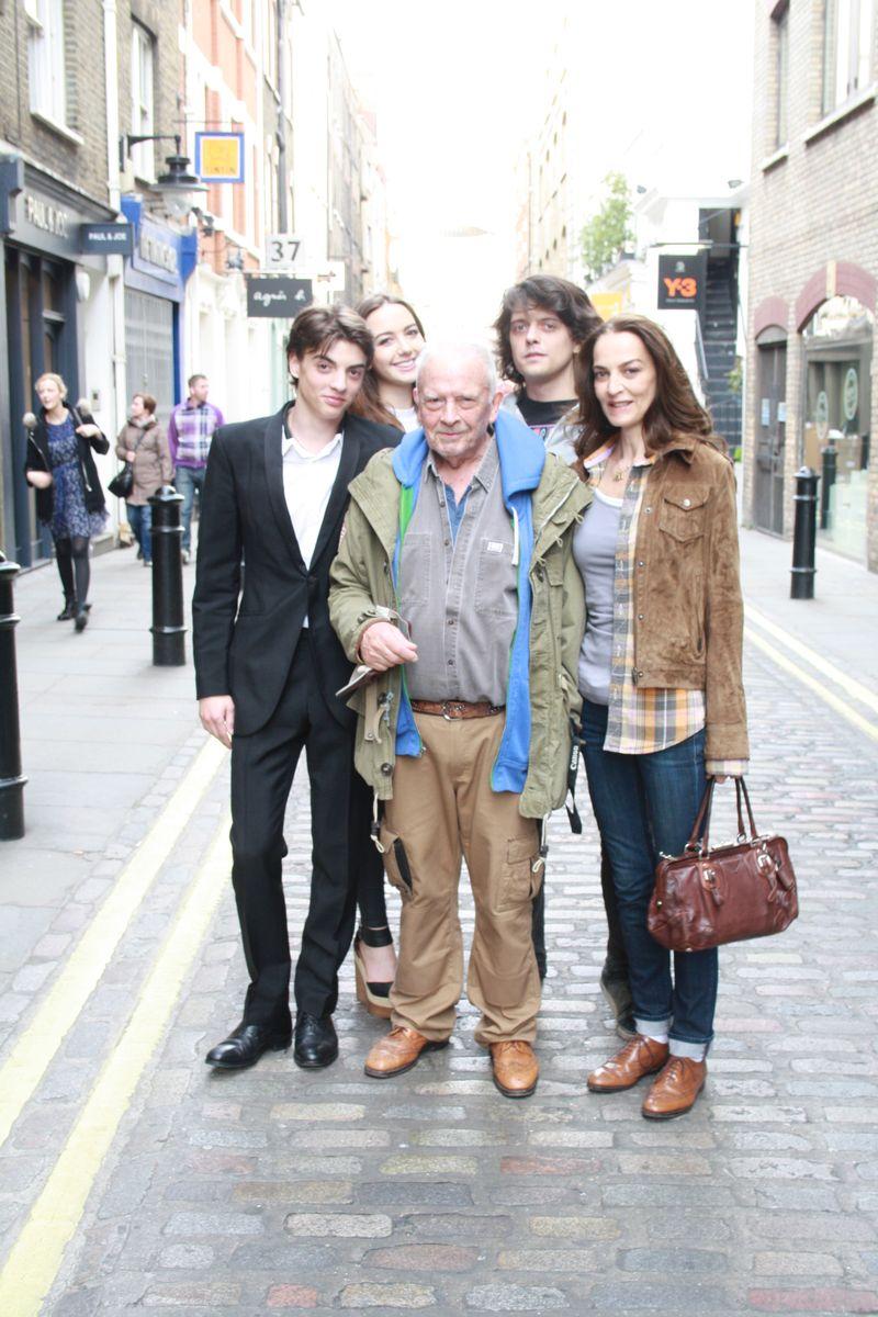 Sascha Bailey, David Bailey, Catherine Bailey, Fenton Bailey and girlfriend Sarah