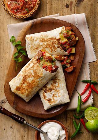 Chorizo-style-sausage-burrito