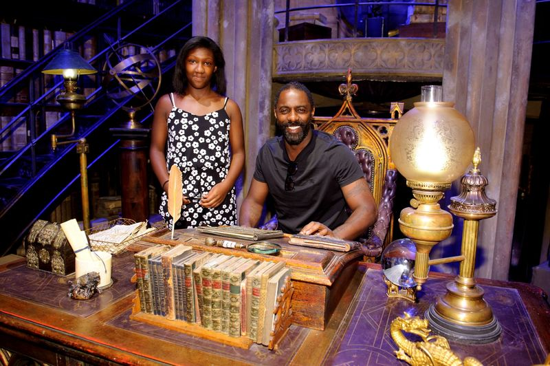 Idris Elba in Dumbledore's Office at Warner Bros  Studio Tour London to celebrate the launch of Harry Potter Summer Screenings (2) (LR2)