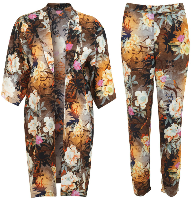 Miss selfridge matching kimono and trousers