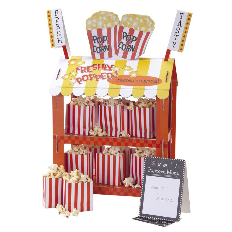 Talking Tables - Street Stalls - Popcorn stand propped - Portrait