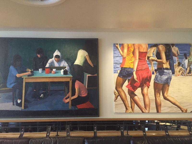 Artwork in Hotel 9