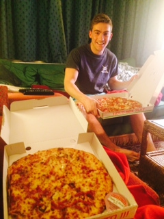 Pizza and charlie