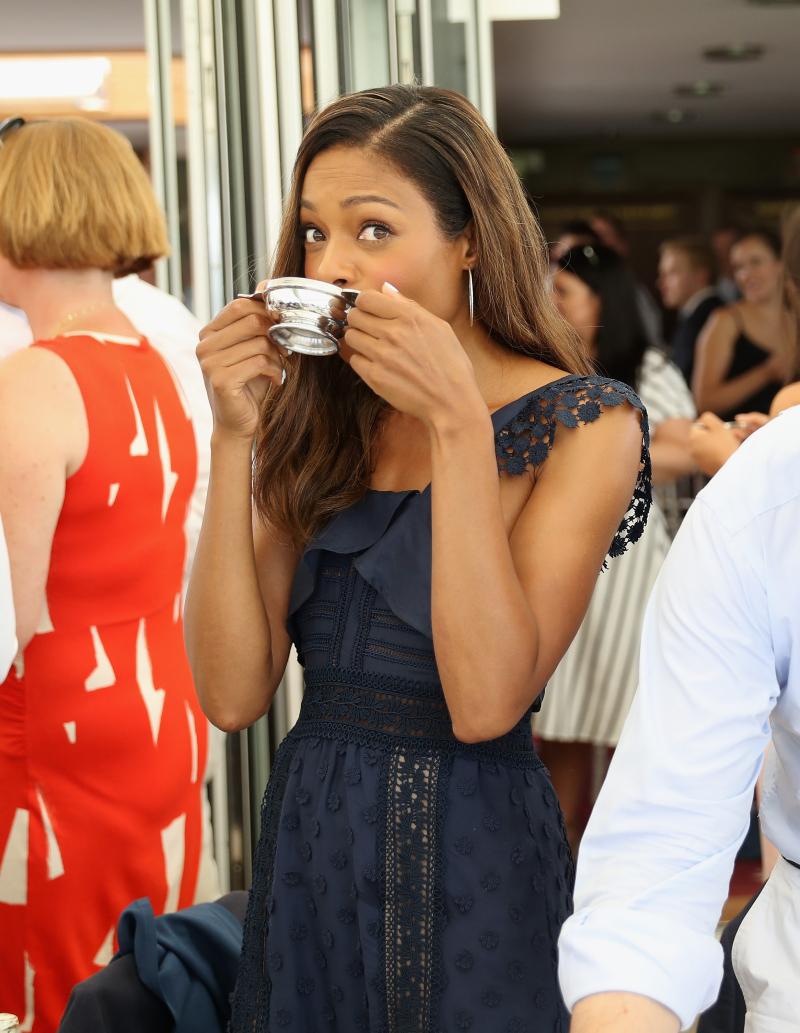 Actress Naomie Harris enjoys Royal Salute whisky at the Royal Salute Coronation Cup