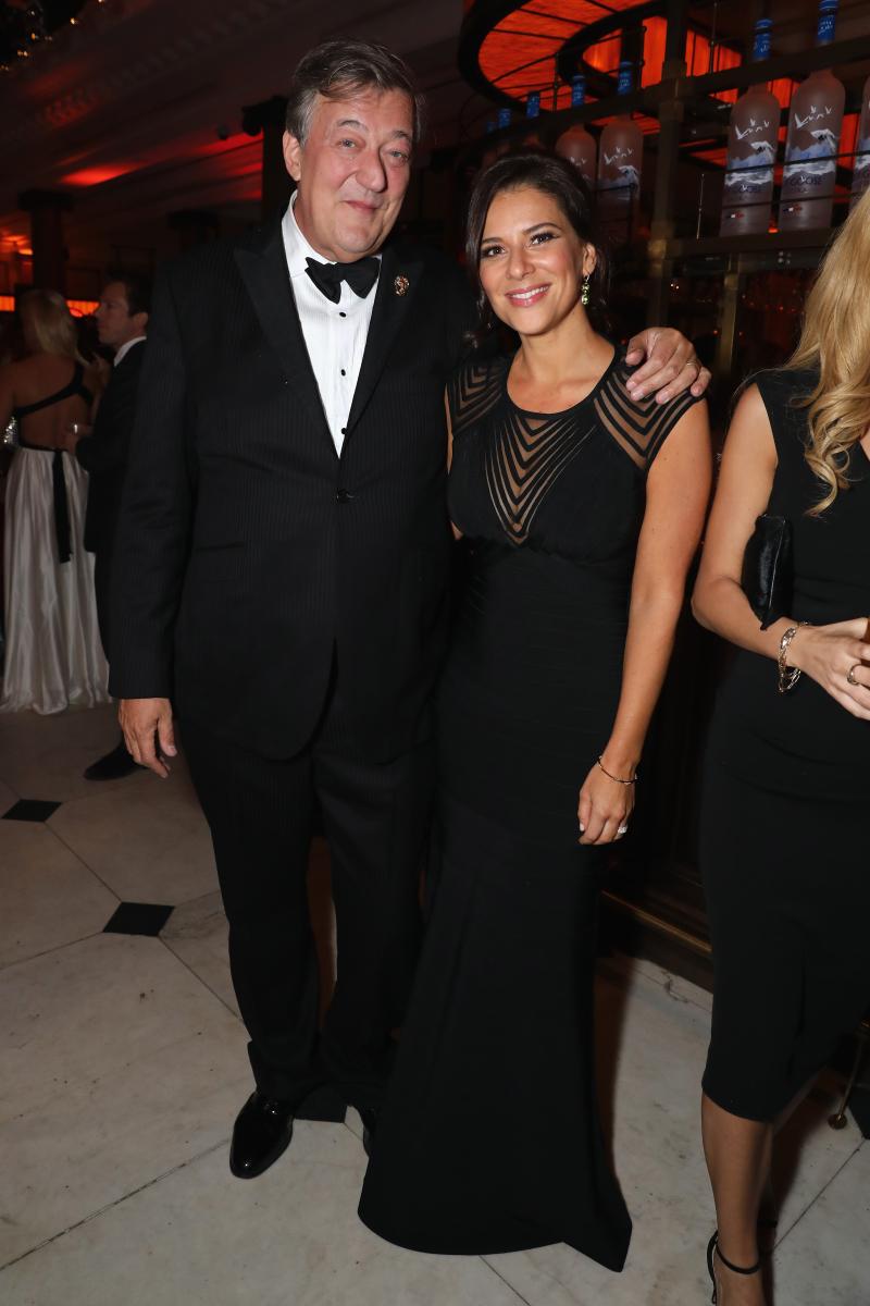 Kat Florence and Stephen Fry