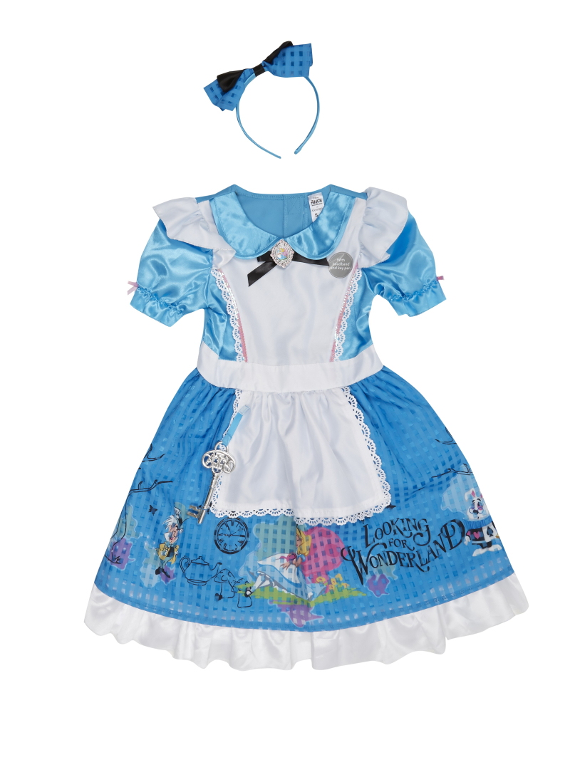 George at Asda Alice in Wonderland fancy dress outfit for World Book Day - 2nd March 2017. Sizes 3 - 12 years.   Price from -ú14