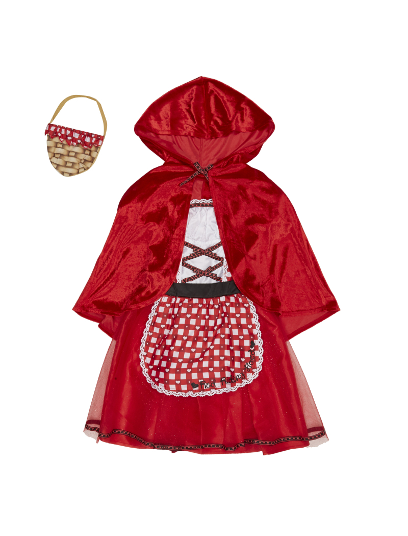 George at Asda Red Riding Hood fancy dress outfit for World Book Day - 2nd March 2017.  Sizes 3- 12 years.  Prices from -ú10