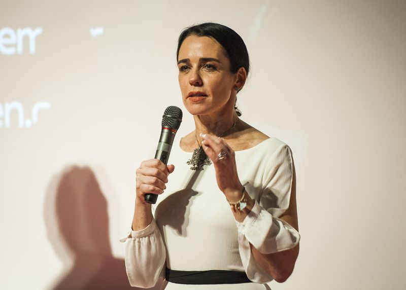 Yael Farber introduces The Crucible on screen premiere (c)David Jensen (1)