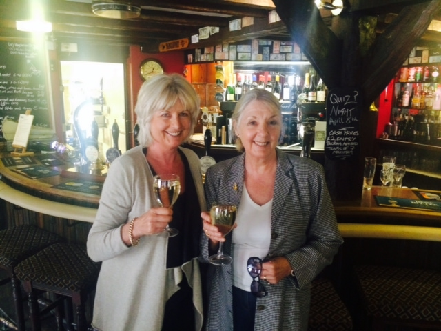 Me and Jane in pub today