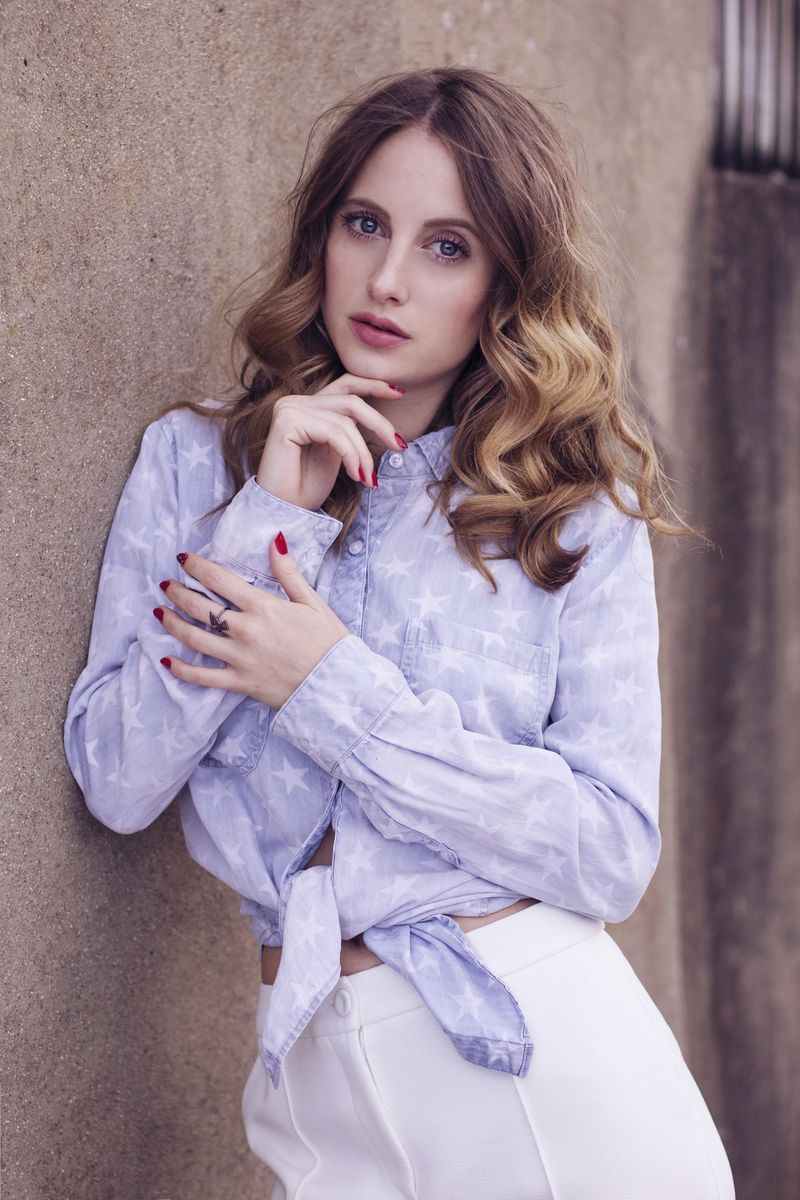 Rosie Fortescue with Nailed London Rosie's Red and London Conundrum