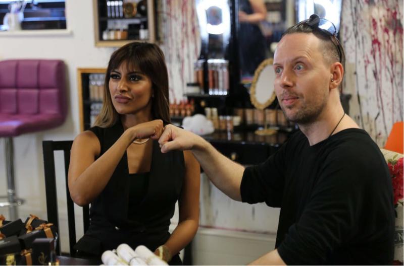 Makeup artists Sabika and David Horne
